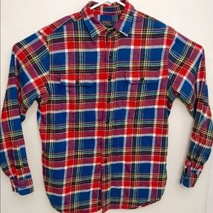 Polo Ralph Lauren Button Down Flannel Shirt Sz L